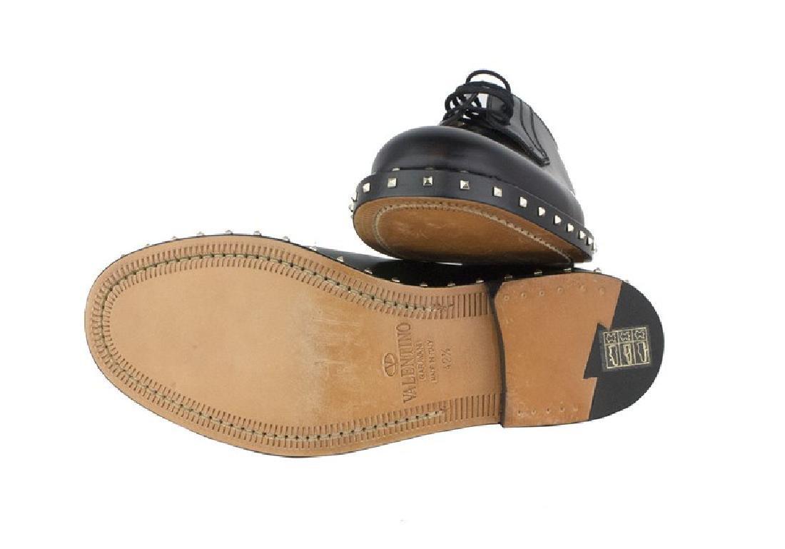 VALENTINO Garavani Black Rockstud Derby Shoes - 4