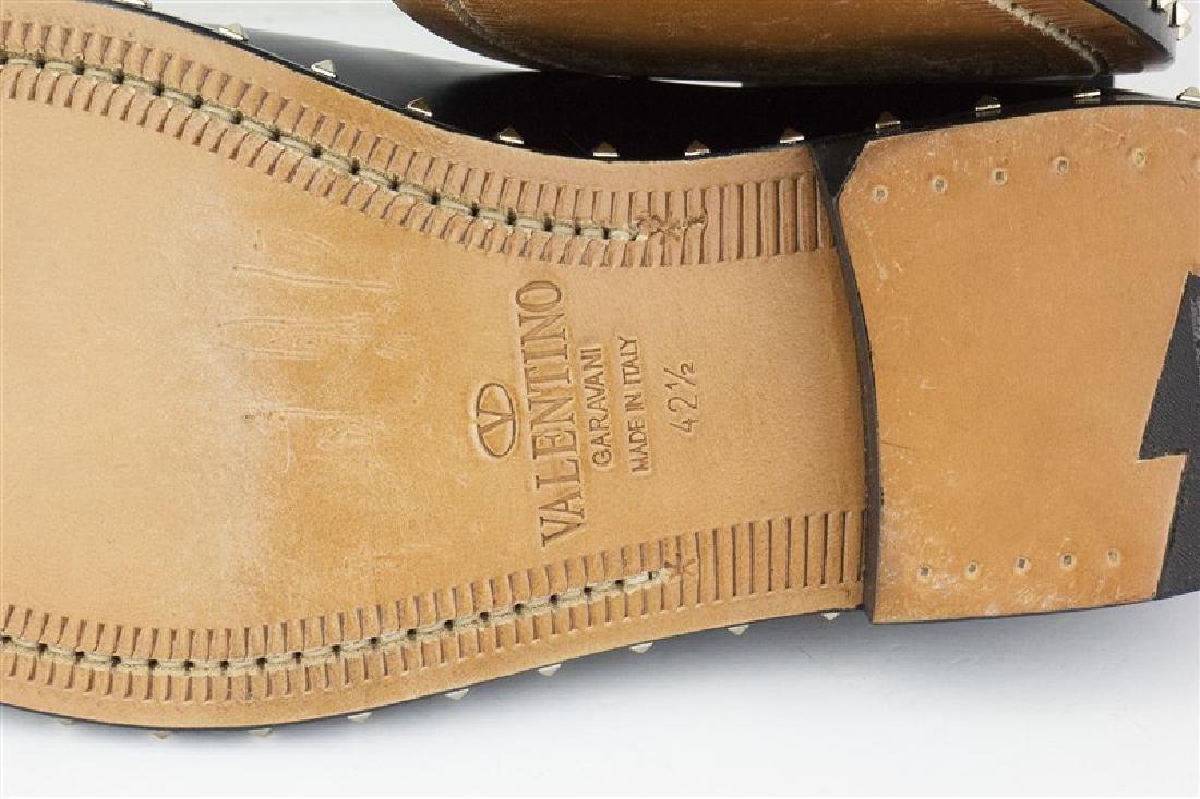 VALENTINO Garavani Black Rockstud Derby Shoes - 5