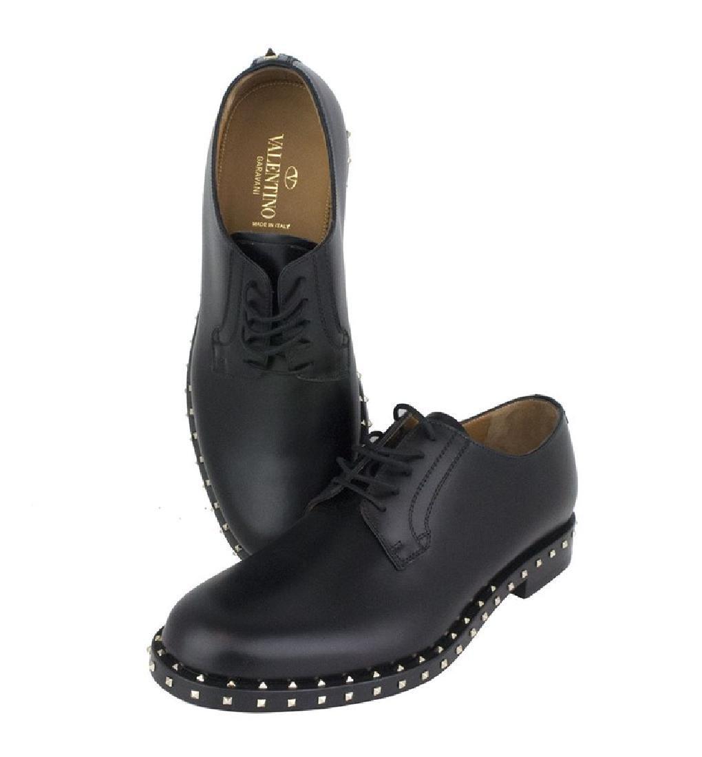 VALENTINO Garavani Black Rockstud Derby Shoes - 6