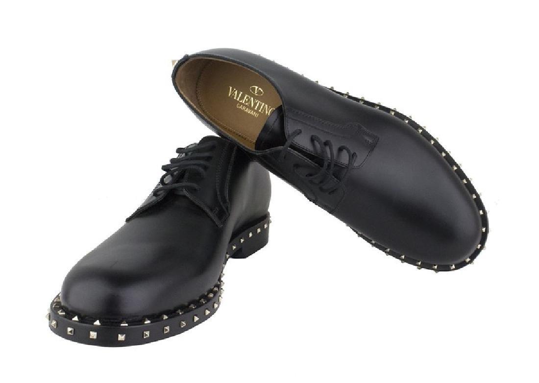 VALENTINO Garavani Black Rockstud Derby Shoes - 7