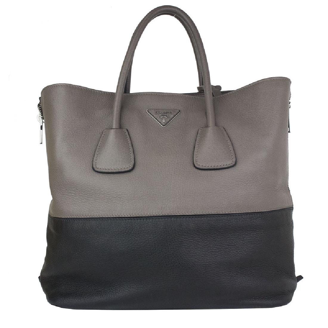 reduced prada daino naturale textured leather shopping tote bag 26b63 a621c 344bd197c80c2