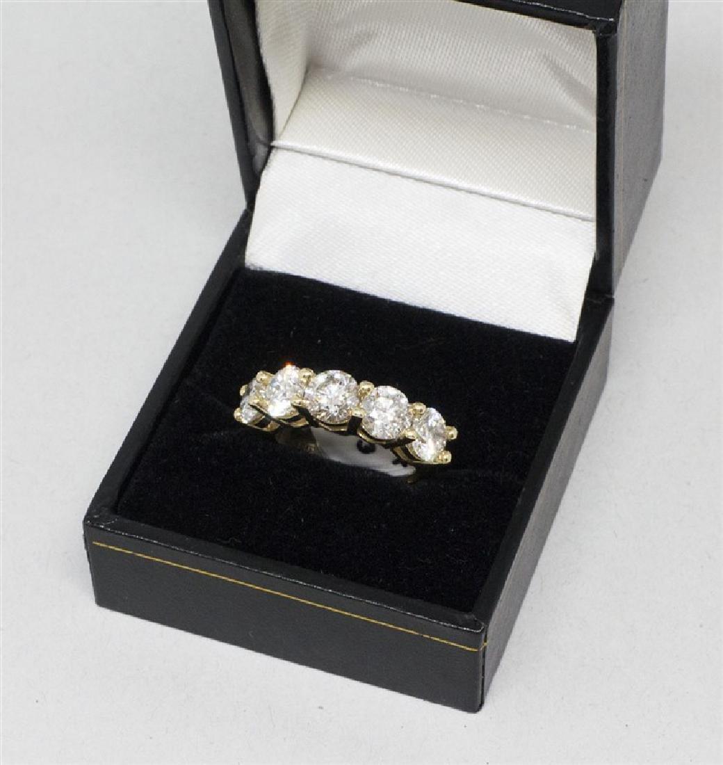 14k Yellow gold DIamond Ring - 2