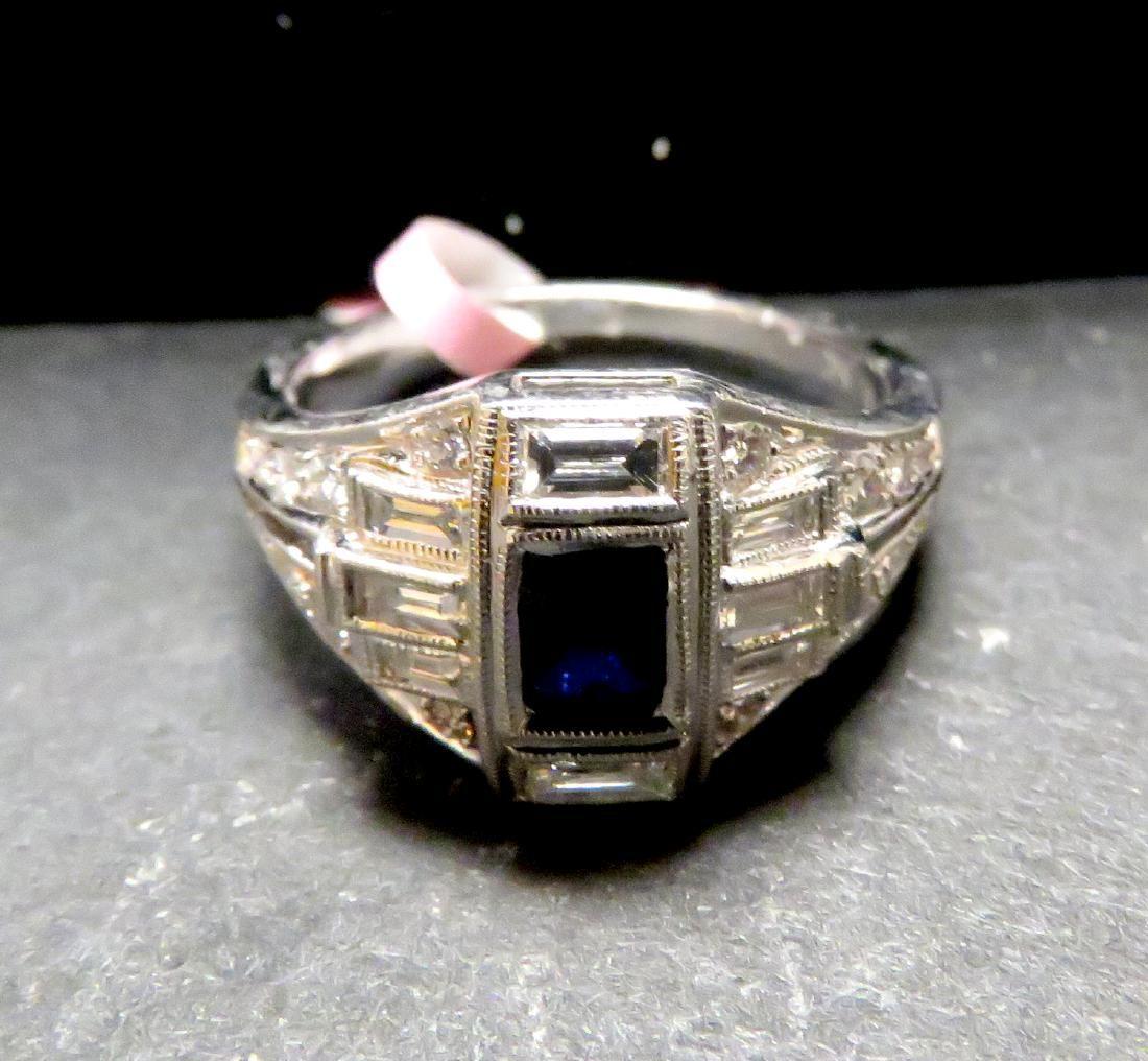 18 kw sapphire & diamond ring