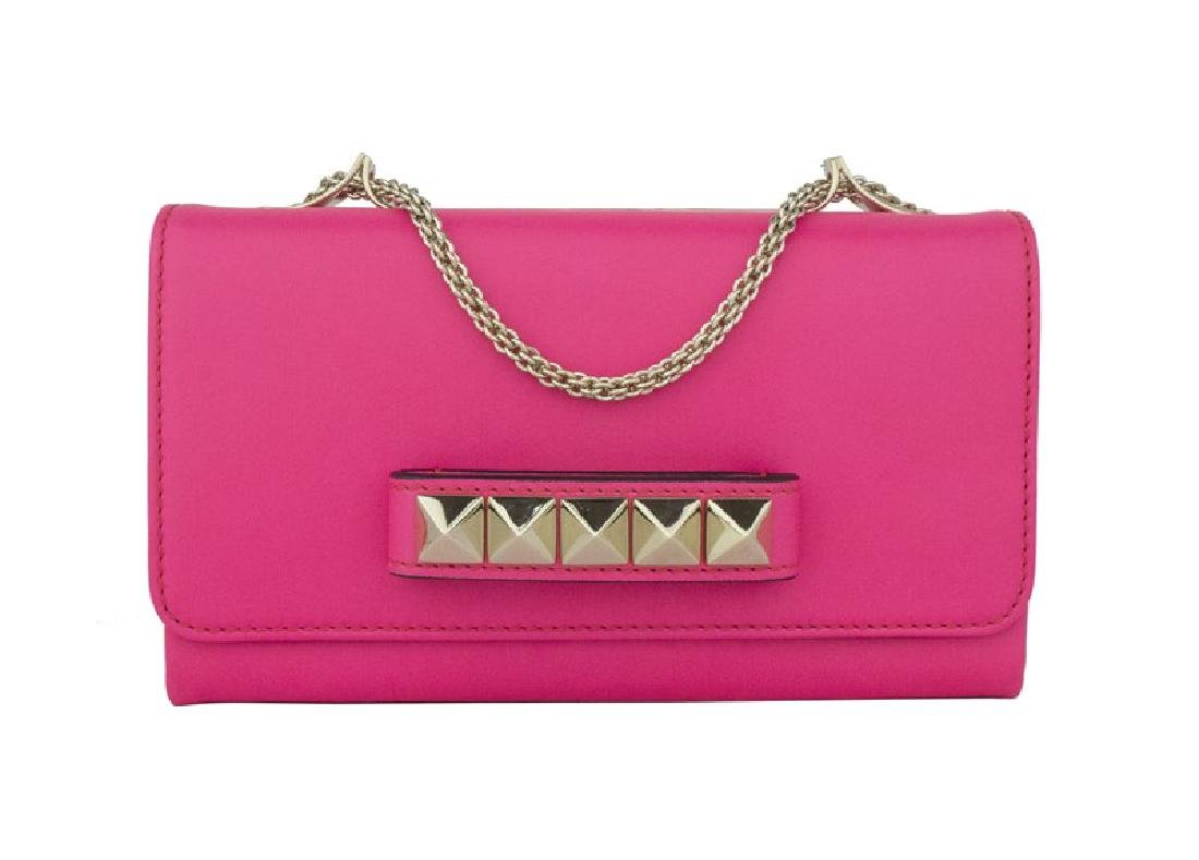 Valentino Garavani Leather Studded Versatile Clutch Bag
