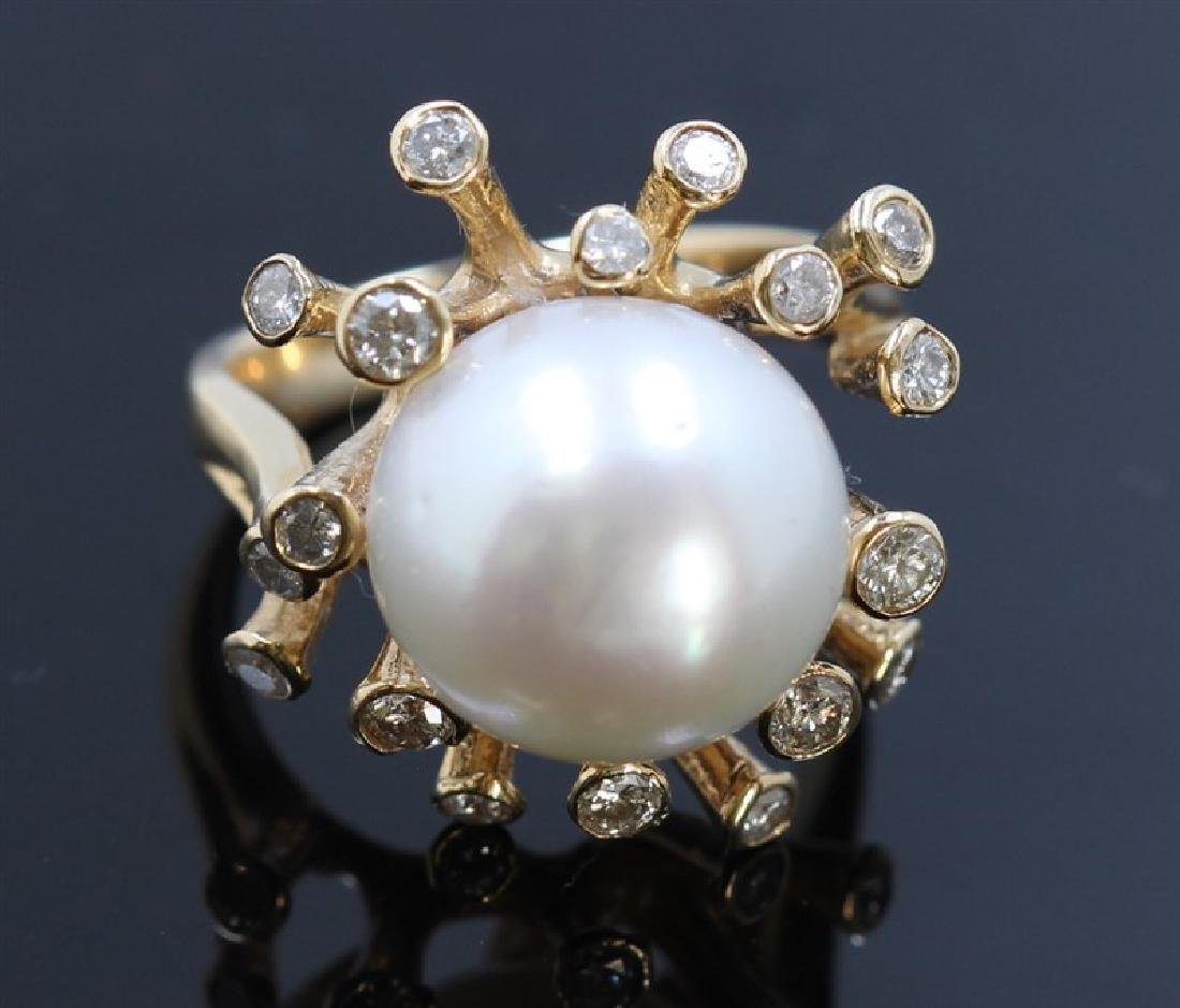 13.5mm South Sea Pearl 14K YellowGold Ring