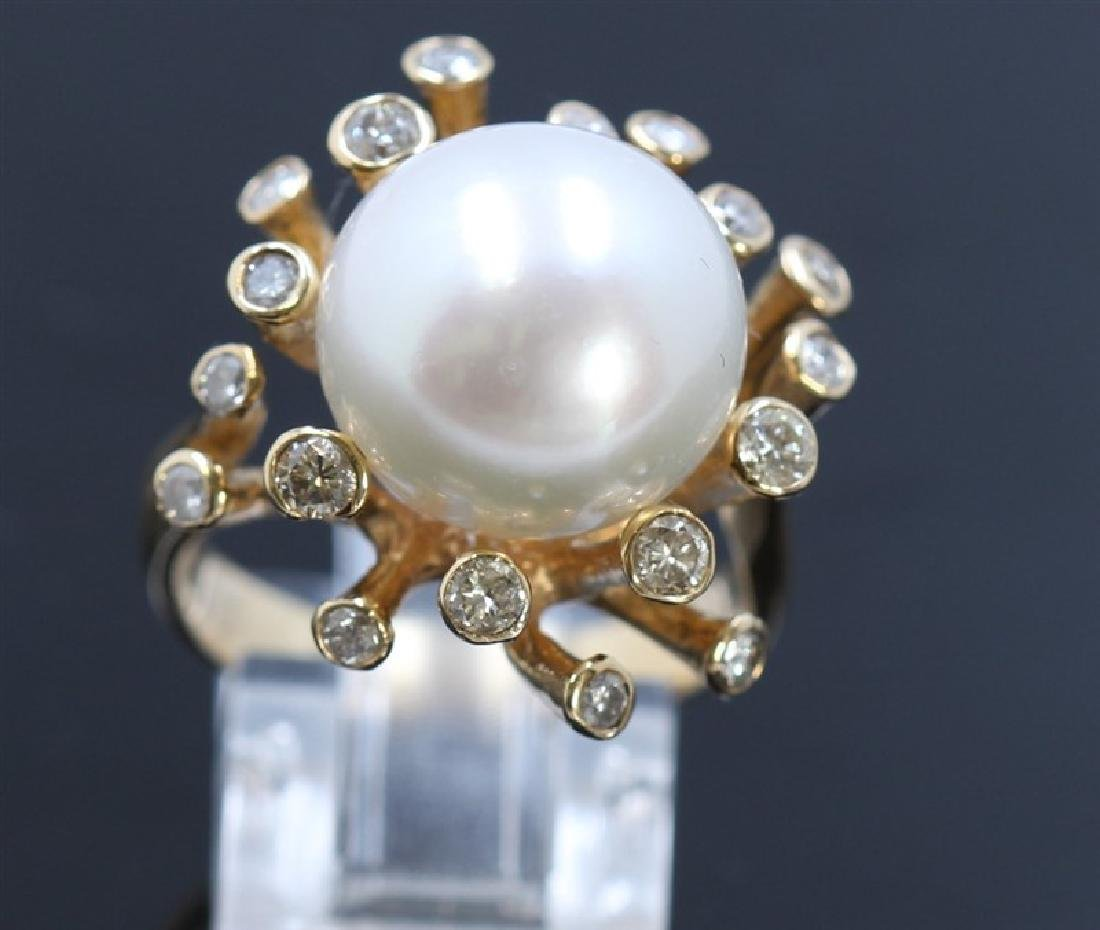 13.5mm South Sea Pearl 14K YellowGold Ring - 2