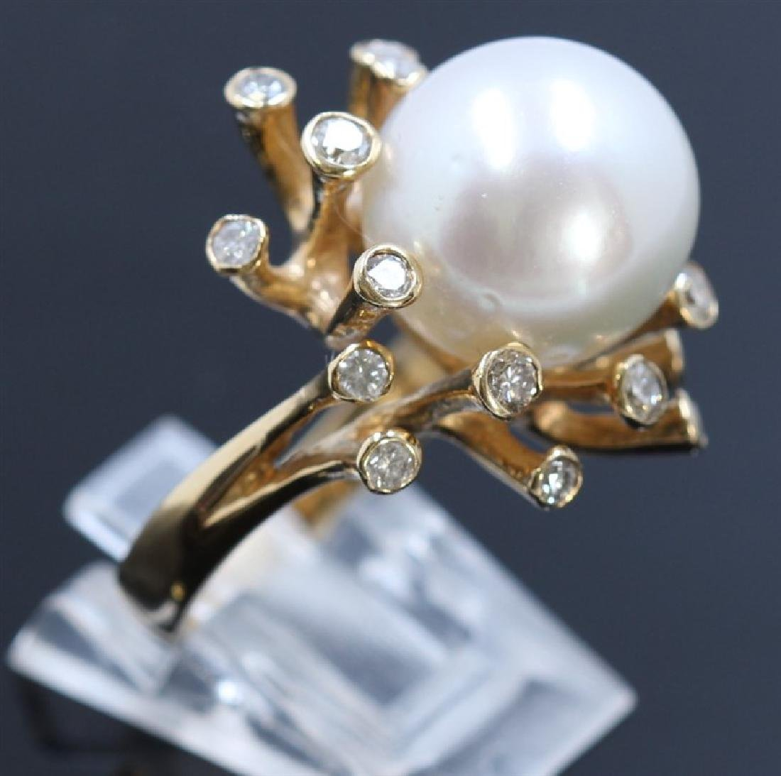 13.5mm South Sea Pearl 14K YellowGold Ring - 3