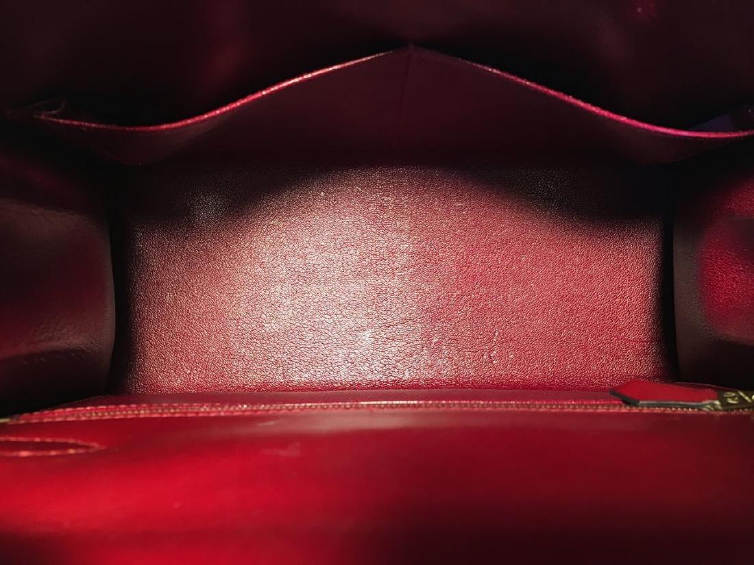 Hermes Vintage Rouge Box Calf 28cm Kelly Bag with Strap - 8