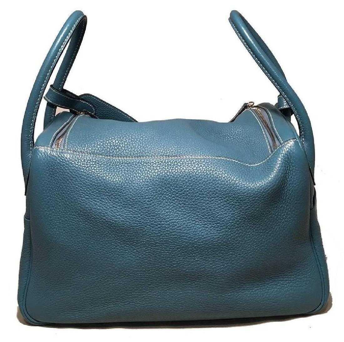 13589c0dec27 Hermes Blue Jean Clemence leather Lindy Bag