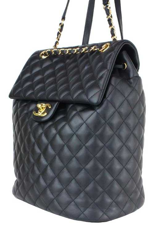 8bbeb27a9557 CHANEL BACKPACK URBAN SPIRIT BLACK LAMBSKIN LEATHER. placeholder. See Sold  Price