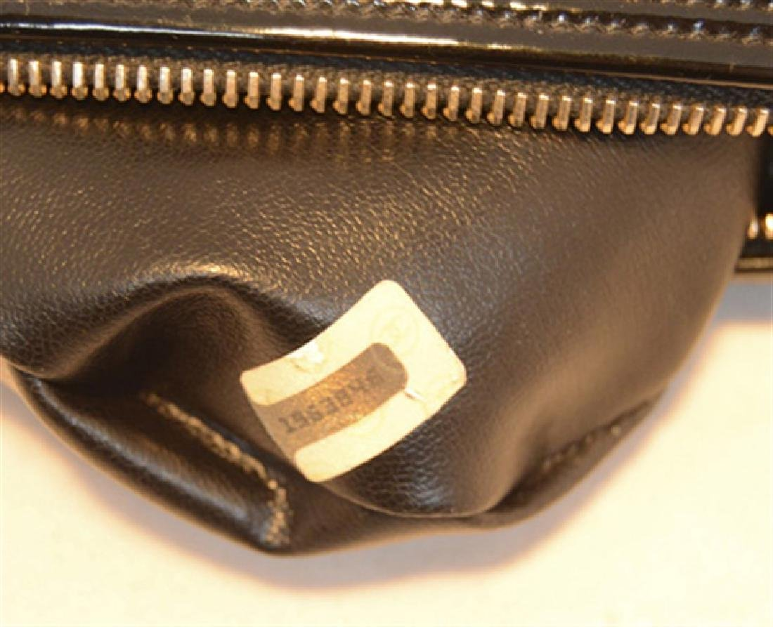 Chanel Vintage Black Patent Leather Chevron Quilted - 7