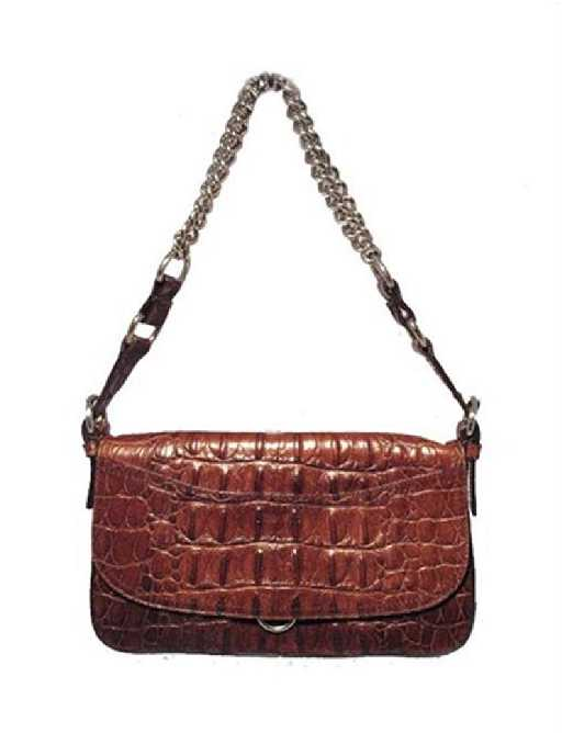 42e488e23c87 Miu Miu Brown Hornback Crocodile Shoulder Bag