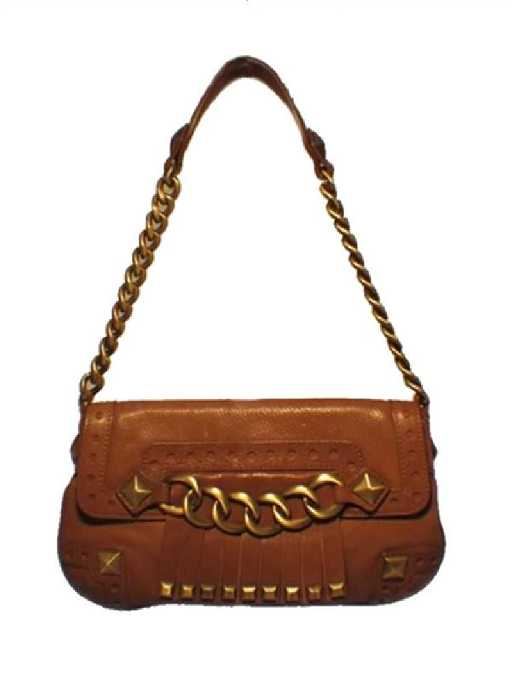 01427316af59 Michael Kors Studded Leather Shoulder Bag