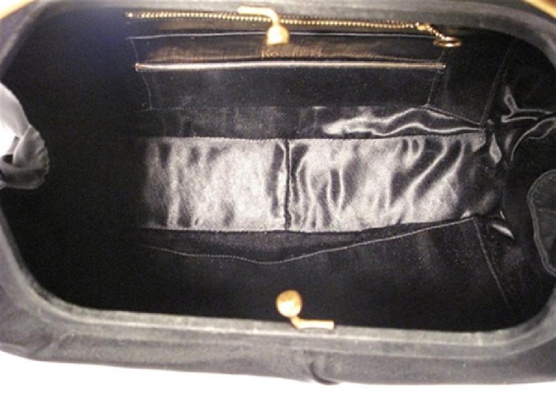 Rosenfeld Vintage Black Silk Faille Handbag - 2
