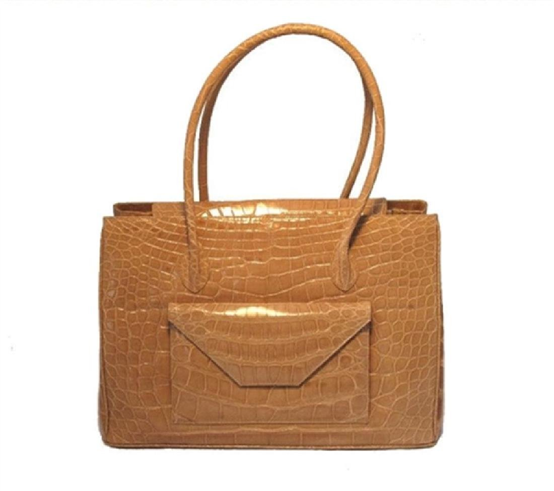 Alexandra Knight Tan Alligator Handbag