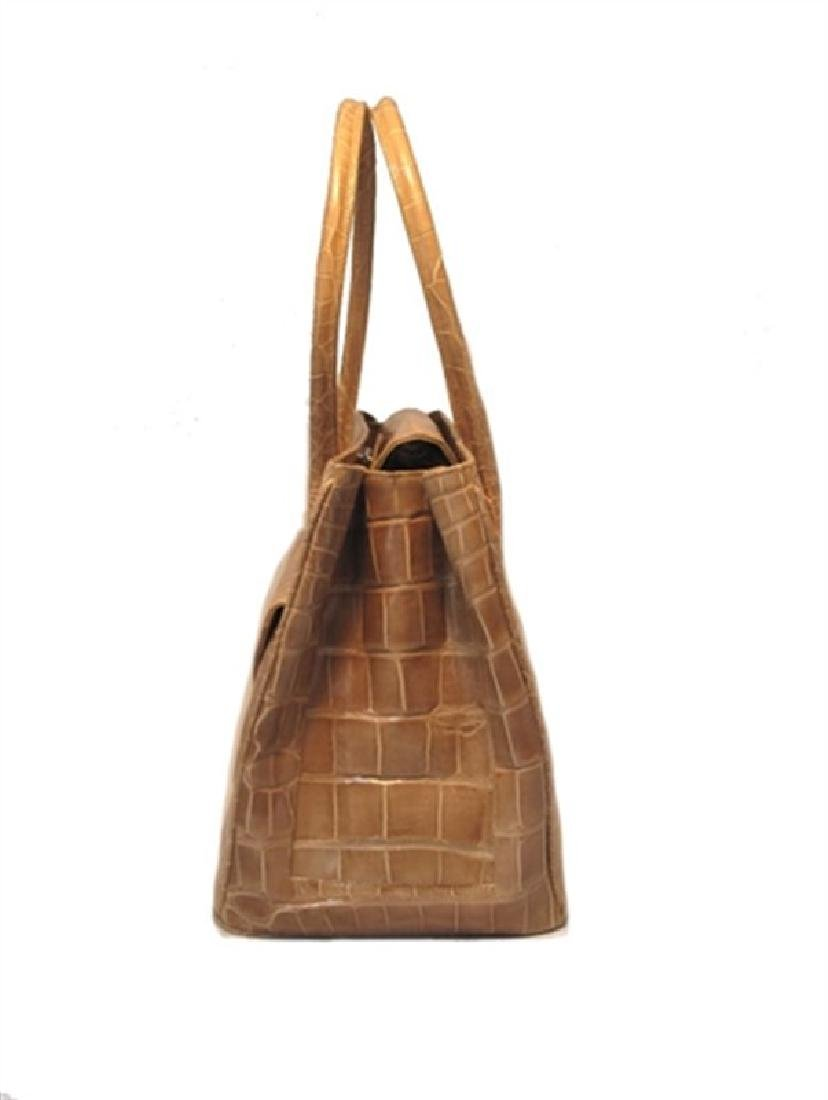Alexandra Knight Tan Alligator Handbag - 3