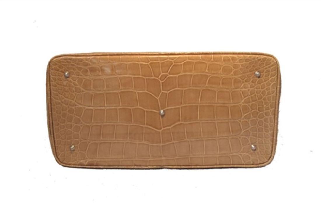 Alexandra Knight Tan Alligator Handbag - 4
