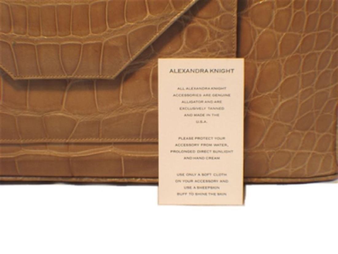 Alexandra Knight Tan Alligator Handbag - 7