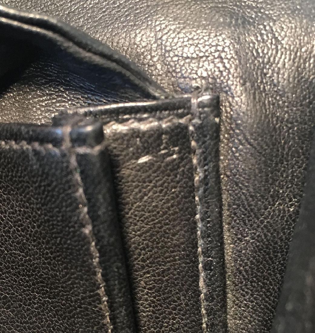 Hermes Vintage Black Alligator Handbag, circa 1960s - 8