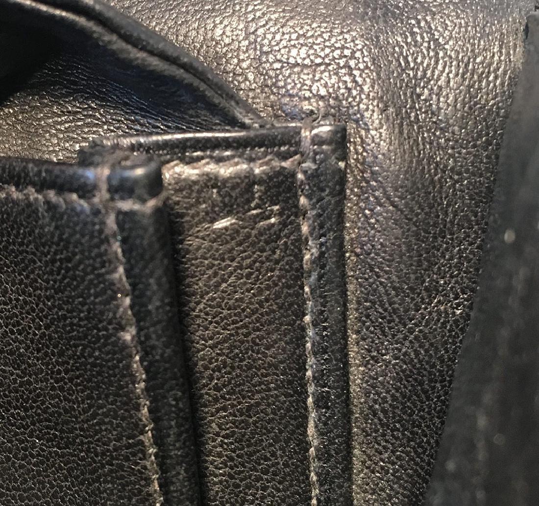 Hermes Vintage Black Alligator Handbag, circa 1960s - 9