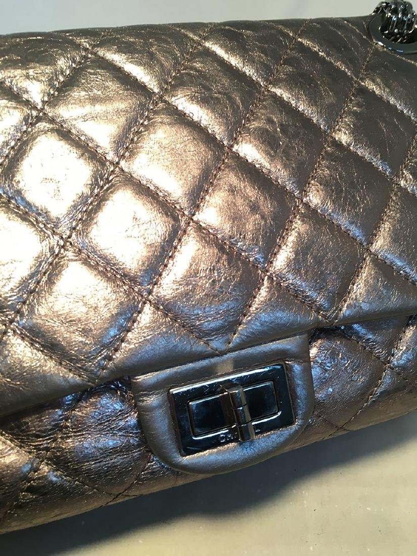Chanel Silver Aged Calfskin 2.55 Reissue 227 Double - 6