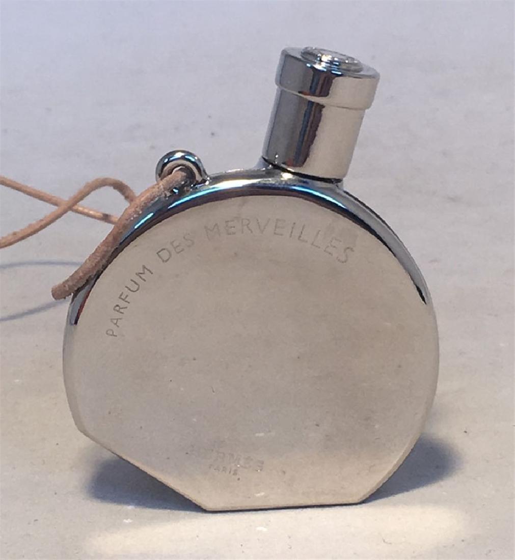 Hermes Silver Palladium Perfume Bottle Necklace - 2