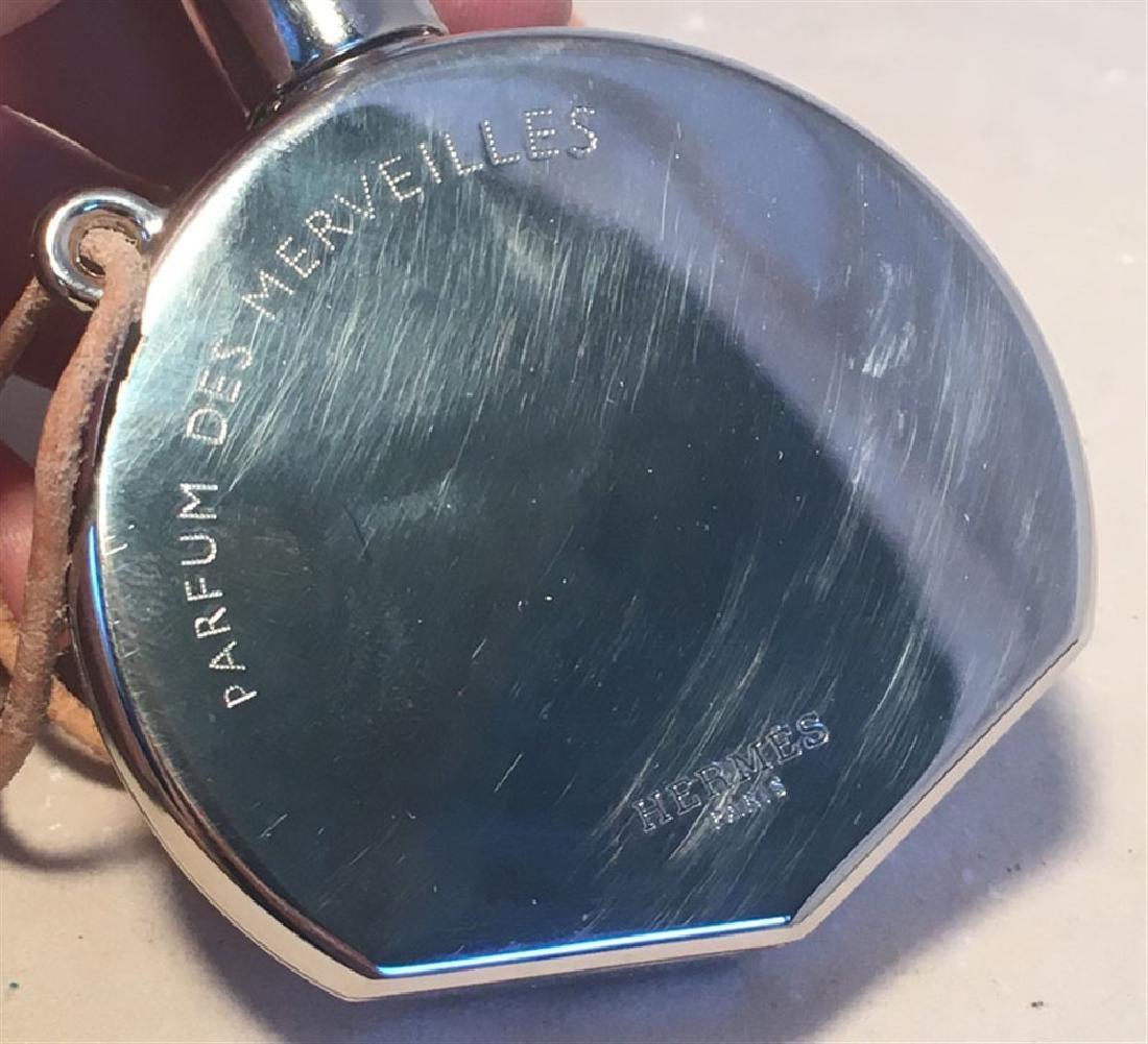 Hermes Silver Palladium Perfume Bottle Necklace - 6
