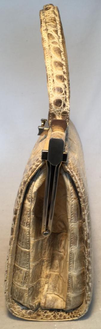 Vintage 1960s Natural Beige Crocodile Handbag - 2