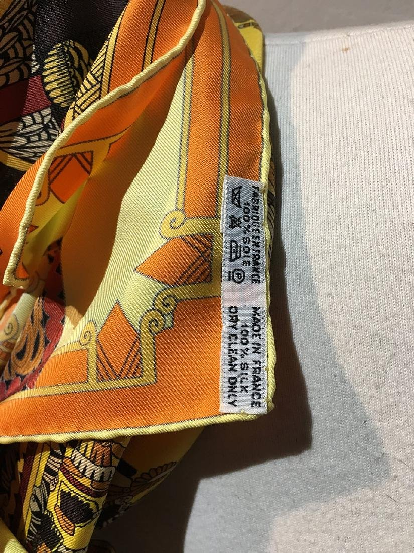 Hermes Vintage Astres et Soleils Silk Scarf in Yellow - 4