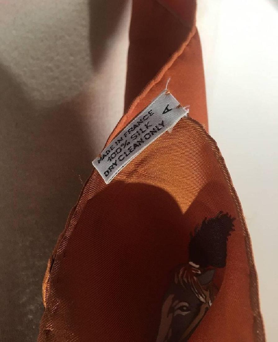 Hermes Vintage En Piste Brown Silk Scarf, circa 1998 - 4