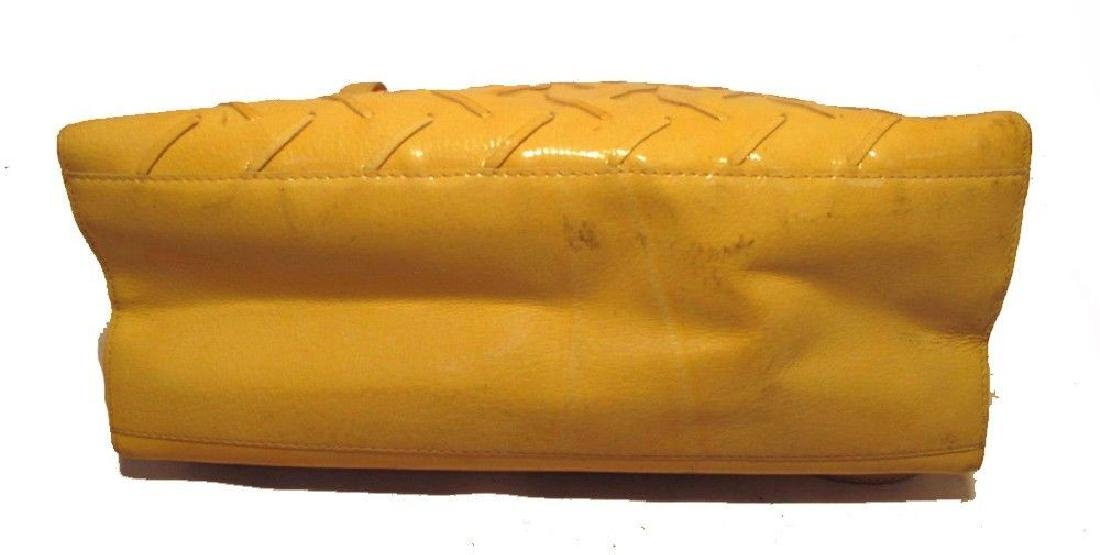 Bottega Veneta Vintage Yellow Patent Leather Shoulder - 3