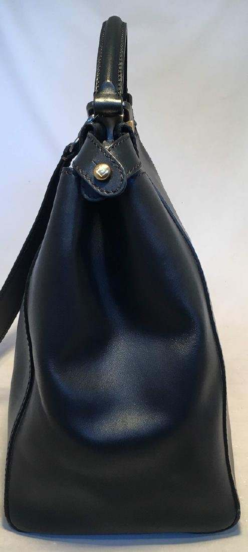 Fendi Black Leather Selleria Peekaboo Shoulder Bag Tote - 2