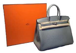9fbbec8e14 2017 CUSTOM Made NWOT Hermes Grey 35cm Togo Birkin Bag