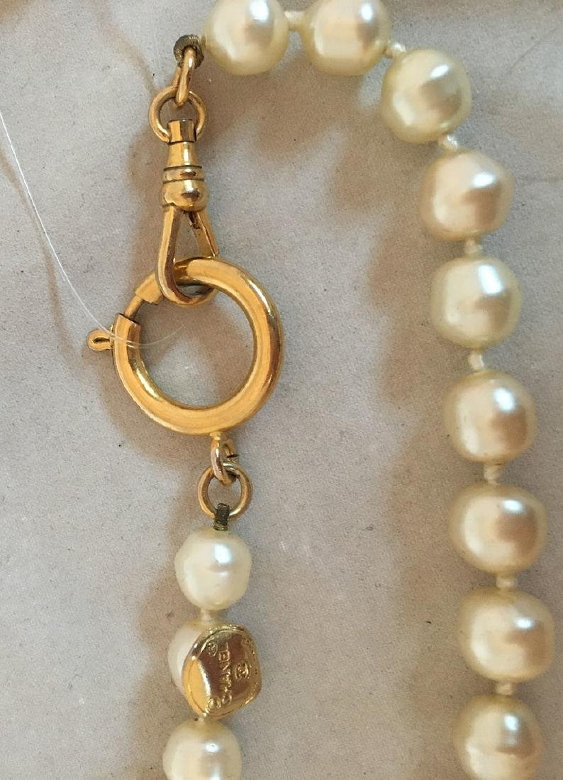 Chanel Vintage Pearl and Crystal Beaded Necklace - 5