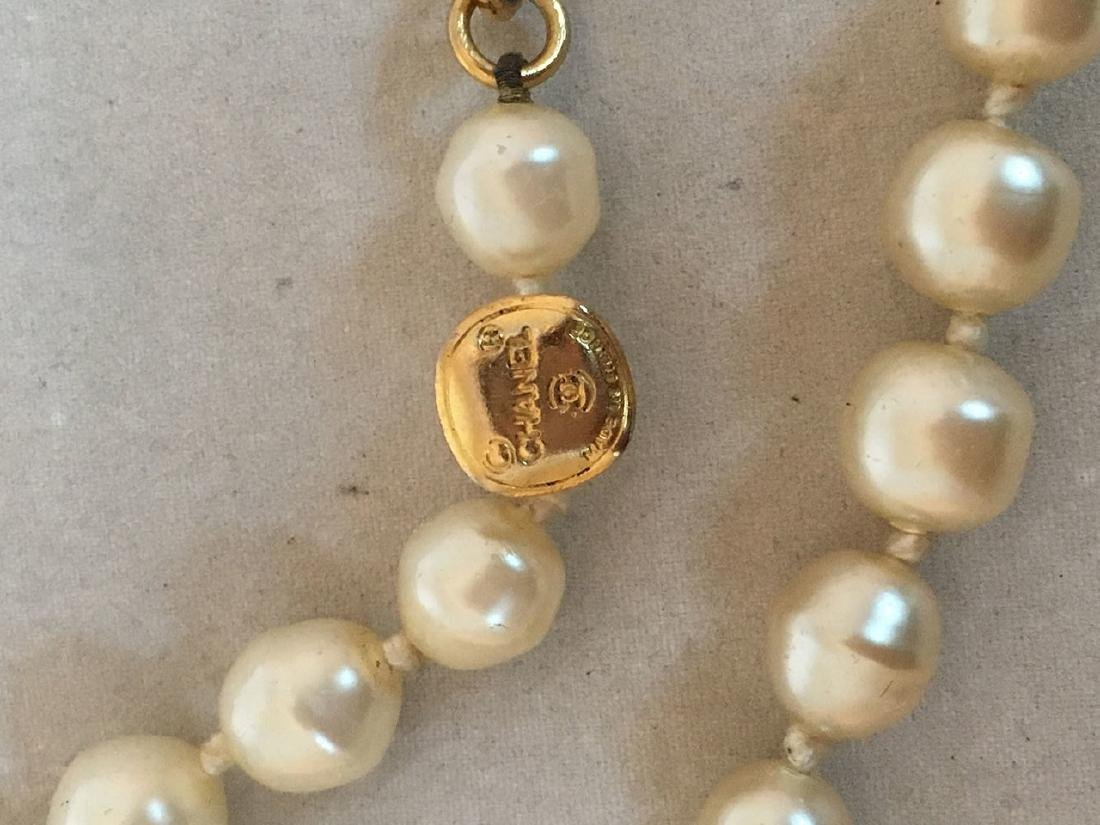 Chanel Vintage Pearl and Crystal Beaded Necklace - 6