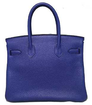 ced94de87cf5 Hermes Royal Blue Clemence Leather 30cm GHW Birkin Bag