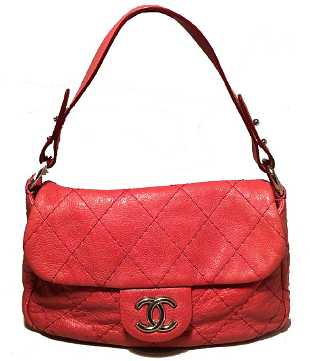1eae869ed632d9 Chanel Red Quilted Glazed Leather Classic Flap Shoulder