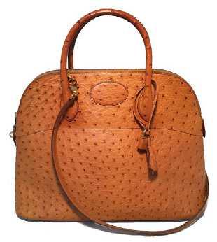 dc341a6001b6 Authentic Hermes Orange Togo Leather Bolide Bag