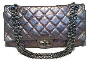 cf67be02663cc6 58067: Chanel Light Gray Python Medium Double Flap Bag