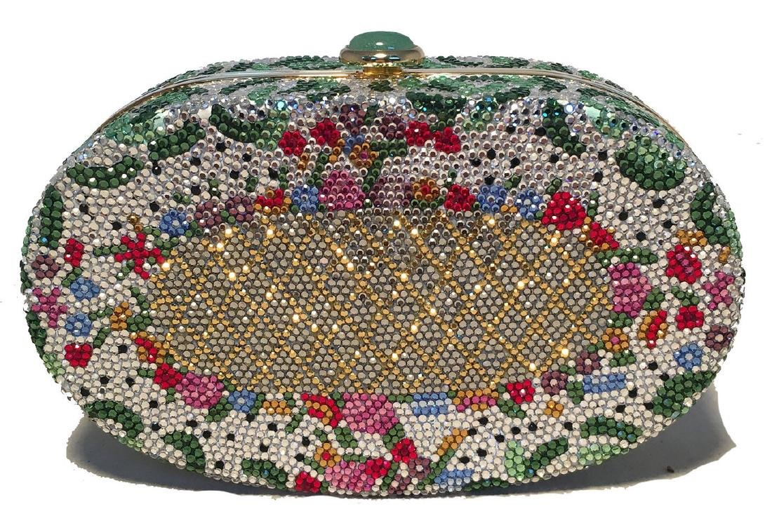 Judith Leiber Vintage Swarovski Crystal Floral Print
