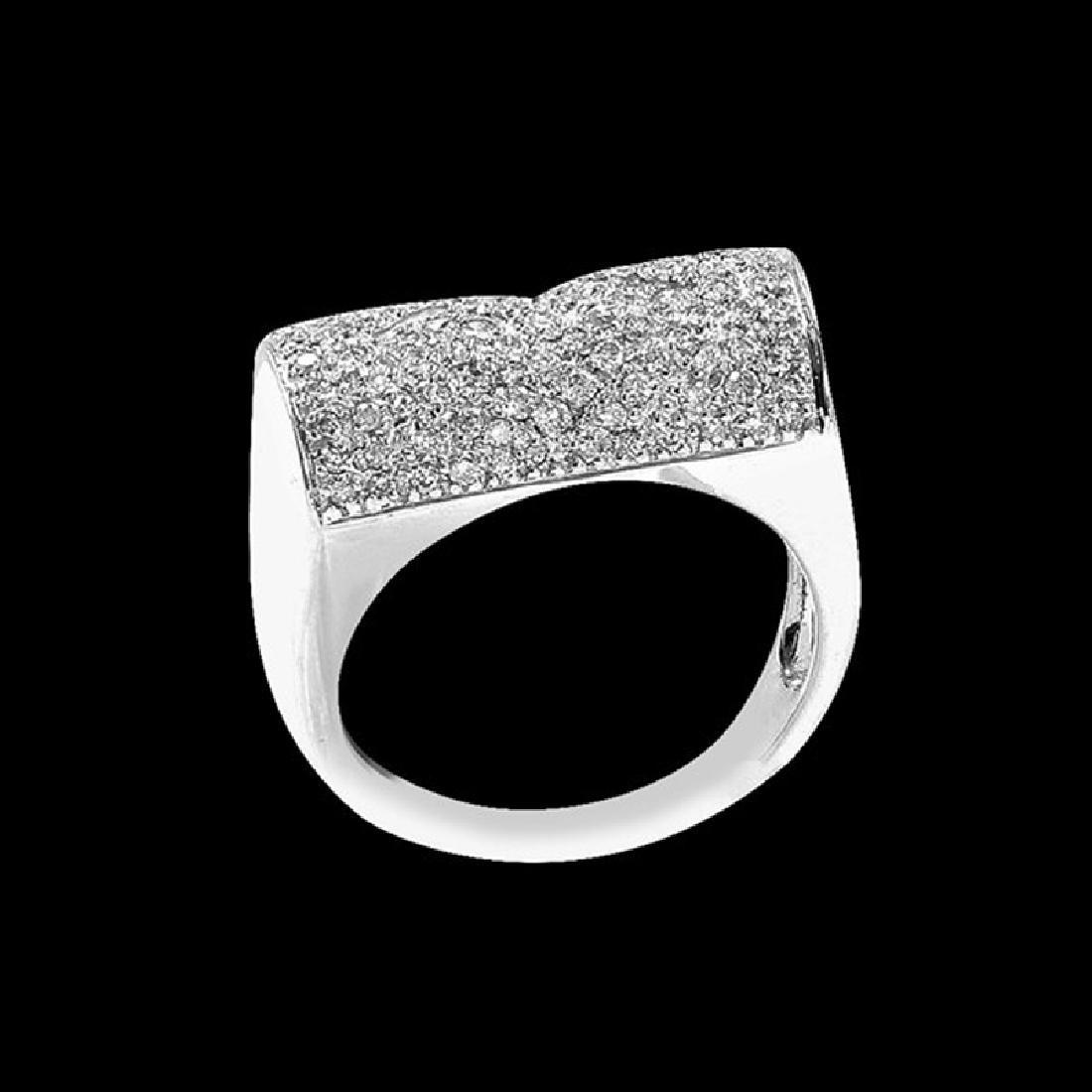 0.85CT NATURAL DIAMOND 14K WHITE GOLD RING