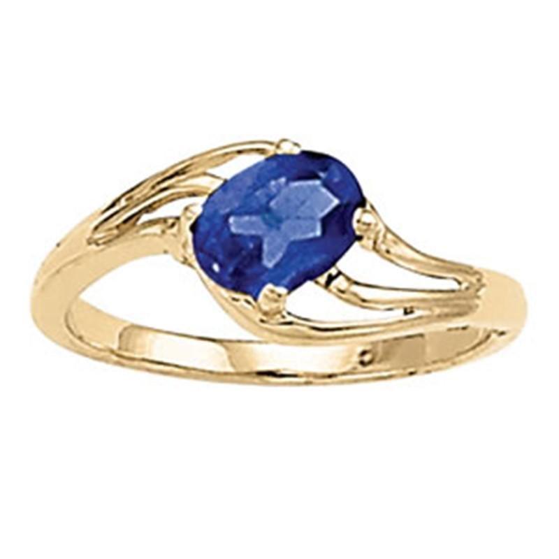 1ct Blue Sapphire 14K Yellow Gold Ring 2.25gm