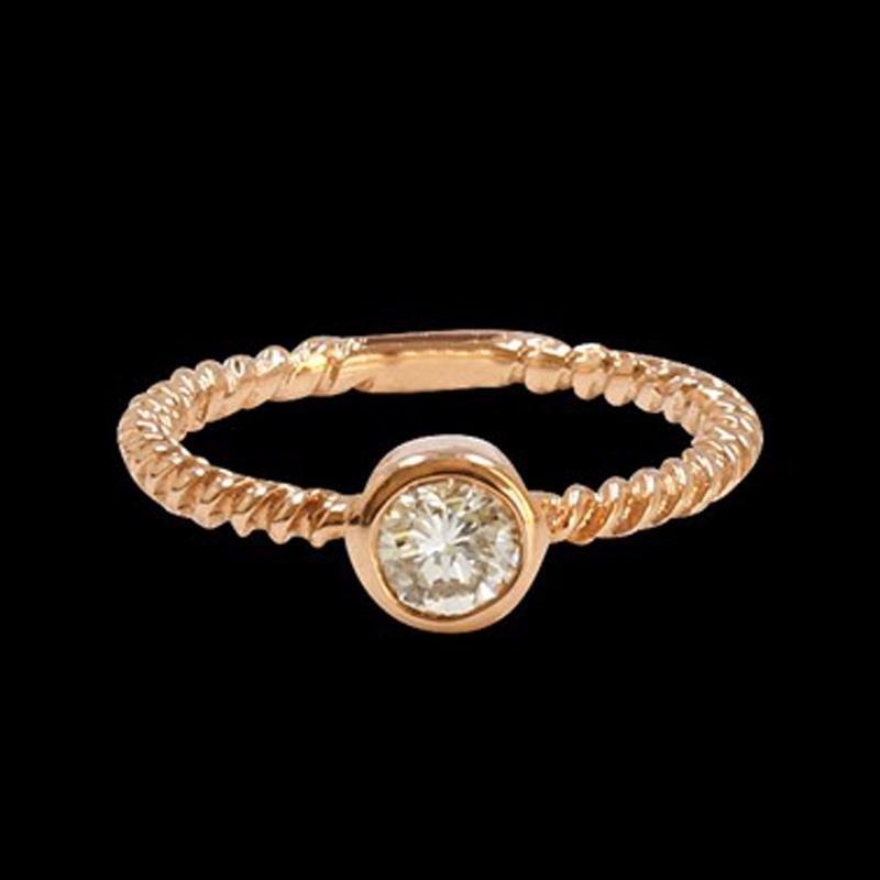 0.40CT NATURAL DIAMOND 14K ROSE GOLD RING