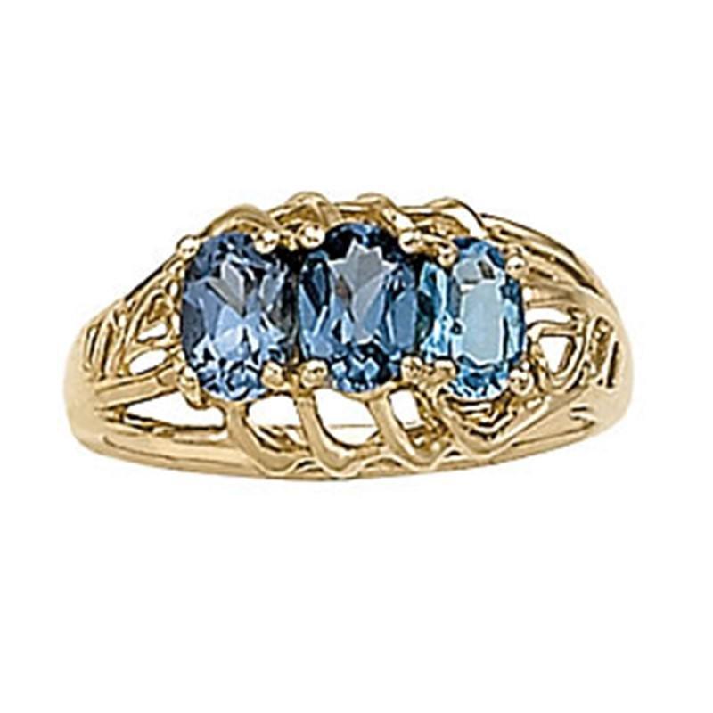 1.5ct Alexandrite 14K Yellow Gold Ring 3.86gm