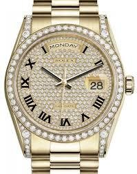 Rolex Model # 118388 Rolex Day Date YG with Diamond