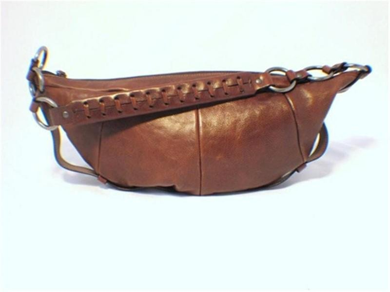Yves Saint Laurent Brown Leather Saddle Bag