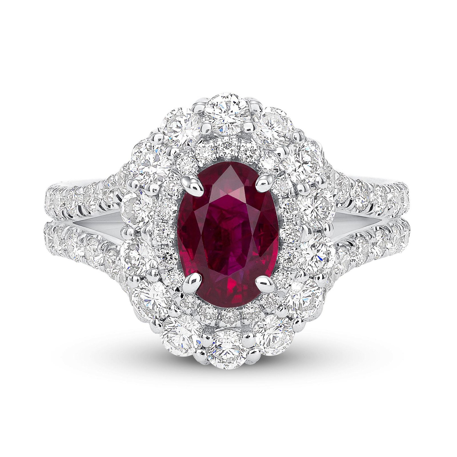 1.51ct Ruby 18K White Gold Ring