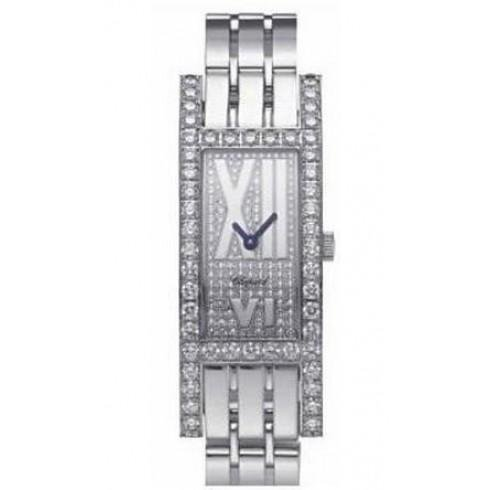 Chopard H Watch WG on Bracelet with Pave Dial Model