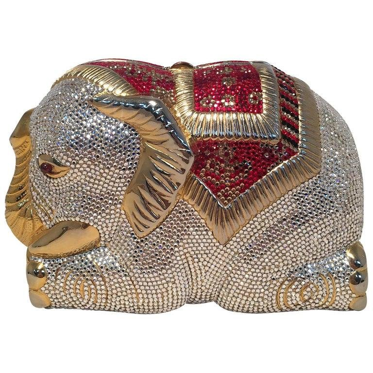 RARE Judith Leiber Swarovski Crystal Elephant