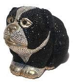 Judith Leiber Swarovski Crystal Bulldog Minaudiere